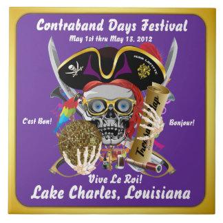 Días Lake Charles Luisiana del pirata 30 colores Azulejos