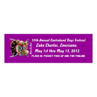 Días Lake Charles, Luisiana del pirata. 50 colores Tarjetas De Visita Mini