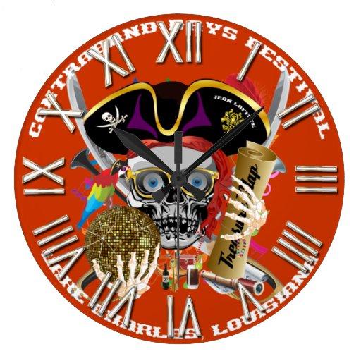 Días Lake Charles, Luisiana del pirata. Indirectas Reloj Redondo Grande