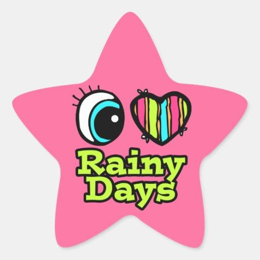 Días lluviosos del ojo del amor brillante del cora colcomania cuadrada