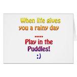 Días lluviosos felicitaciones