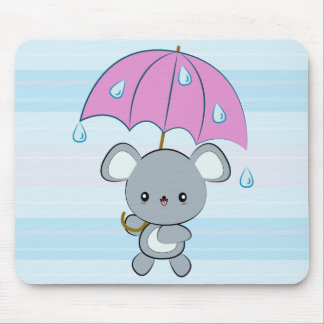 Días lluviosos Mousepad del ratón y del paraguas d Tapetes De Ratón