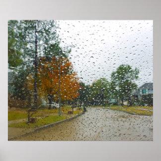 Días lluviosos y lunes póster
