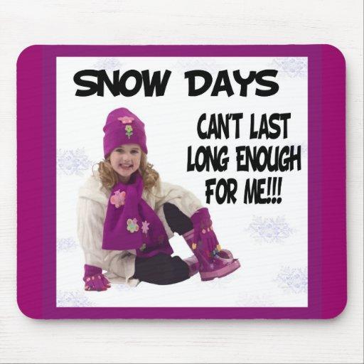 Días Mousepad de la nieve Tapetes De Ratón
