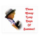 Días perezosos locos, postal del verano