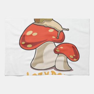 Días perezosos toallas de mano