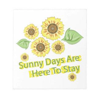 Días soleados libreta para notas
