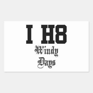 días ventosos pegatina rectangular