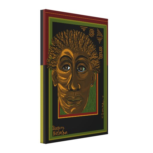 DIASPORA MAN 17x24 wrapped canvas print