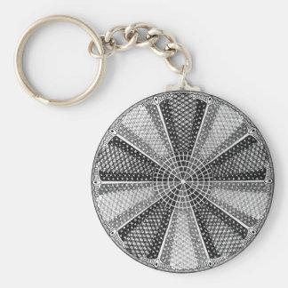 Diatom 13 Vintage Fine Ernst Haeckel Basic Round Button Keychain
