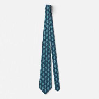 Diatom Ogee Pattern Blue Neck Tie