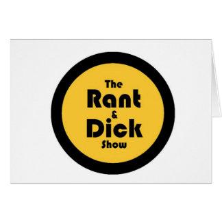 diatriba y dick: Oro y logotipo negro Felicitación