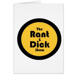 diatriba y dick: Oro y logotipo negro Tarjeton