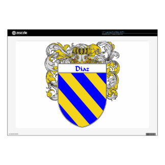 Diaz Coat of Arms/Family Crest Decal For Laptop