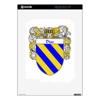 Diaz Coat of Arms/Family Crest iPad 2 Decals