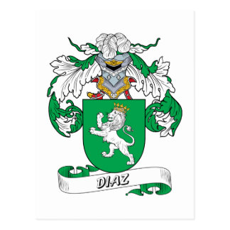 Diaz Family Crest Post Cards