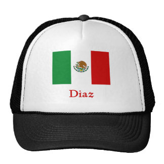 Diaz  Mexican Flag Trucker Hat