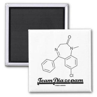 Diazepam del equipo molécula química imanes