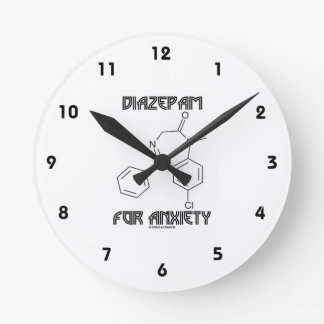 Diazepam For Anxiety (Chemical Molecule) Clock