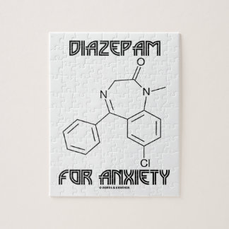 Diazepam For Anxiety (Chemical Molecule) Jigsaw Puzzles