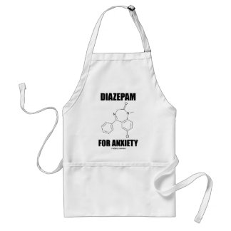 Diazepam For Anxiety (Light Chemical Molecule) Adult Apron