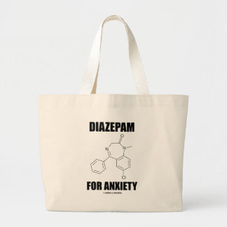 Diazepam For Anxiety (Light Chemical Molecule) Large Tote Bag