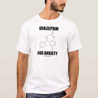 Diazepam For Anxiety (Light Chemical Molecule) T-Shirt