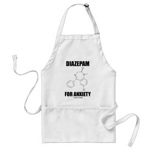 Diazepam para la ansiedad (molécula química ligera delantal