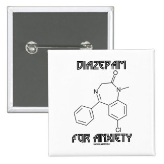Diazepam para la ansiedad (molécula química) pins