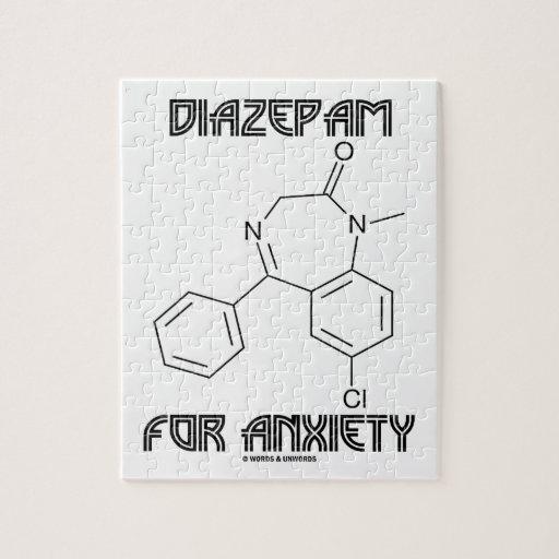Diazepam para la ansiedad (molécula química) puzzles