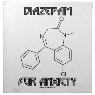 Diazepam para la ansiedad (molécula química) servilletas imprimidas
