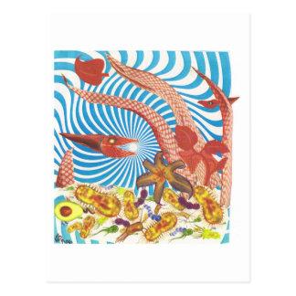 Dibble_Art29_Orange_Octopus Postcard