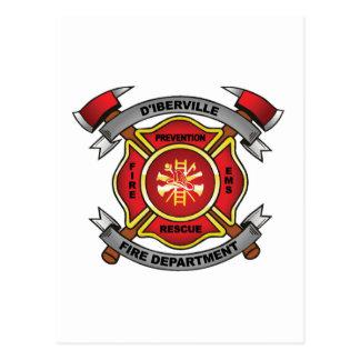 D'IBERVILLE FIRE DEPT POSTCARD