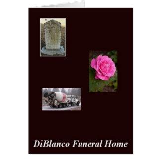 DiBlanco Funeral Home Greeting Card