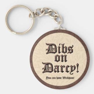 ¡Dibs en Darcy! Llavero
