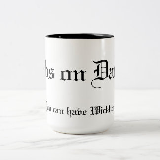 Dibs on Darcy You can have Wickham! Two-Tone Coffee Mug