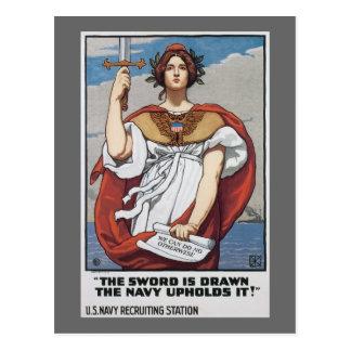 Dibujan a la marina de guerra de los E.E.U.U. del Postal