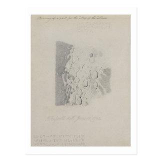 Dibujando para el mapa de la luna, 1794 (lápiz en  tarjetas postales