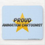 Dibujante orgulloso de la animación tapete de raton