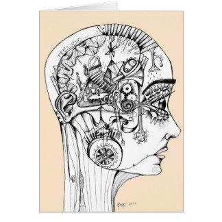 dibujo a lapiz, ilustracion original tarjeta de felicitación