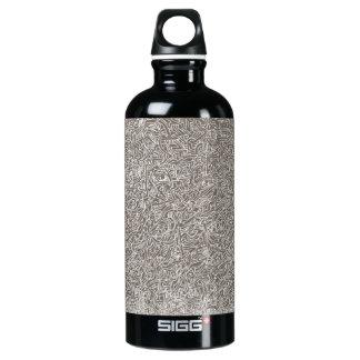 Dibujo abstracto, botella de agua