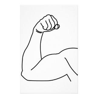 Dibujo abstracto de la flexión del brazo de un papeleria
