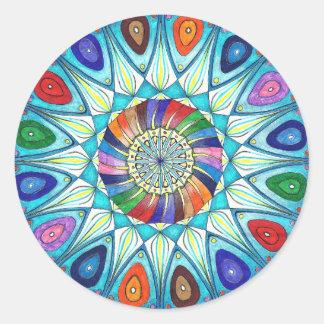 Dibujo abstracto de la mandala del pegatina