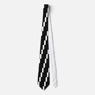Dibujo abstracto del chica agraciado en balneario corbata personalizada