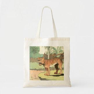 Dibujo africano del tigre bolsa tela barata