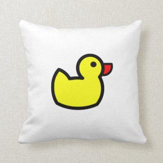 Dibujo amarillo del pato cojin