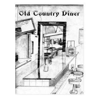 Dibujo americana del comensal del país viejo del tarjeta postal