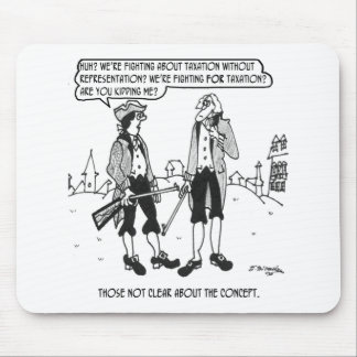 Dibujo animado 2967 del impuesto alfombrilla de raton