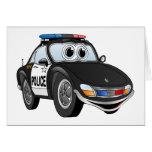 Dibujo animado 2 BWB del coche policía Felicitación