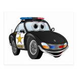 Dibujo animado 2 BWS del coche del sheriff Postal